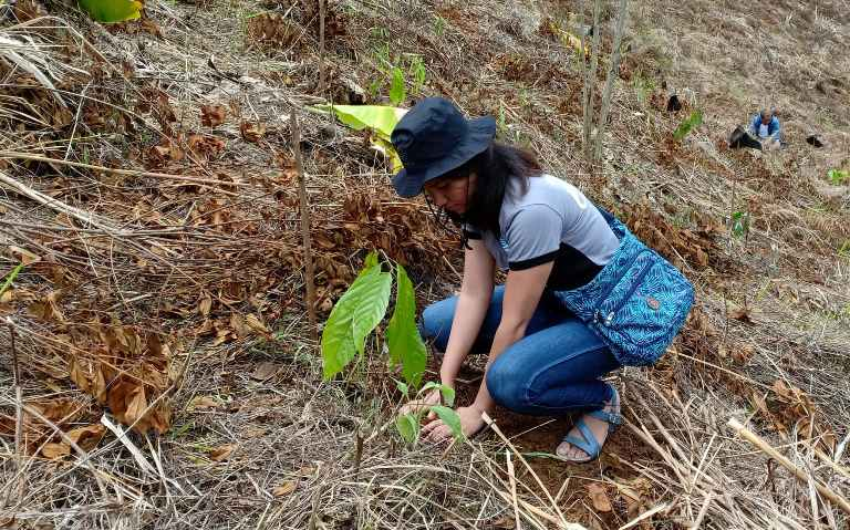 9 DENR XI foresters plant trees for Rbor Day celebration